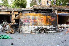 Parco di gezi di Costantinopoli delle strade di pulizia del comune Immagini Stock Libere da Diritti