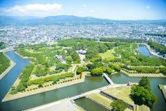 Parco di Goryokaku a Hakodate Giappone Fotografie Stock Libere da Diritti