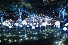 Parco di illuminazione Immagini Stock Libere da Diritti