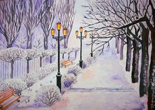 Parco di inverno Illustrazione Vettoriale