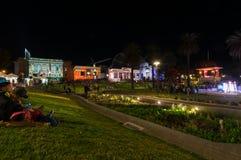 Parco di Johnstone in Geelong centrale durante la notte bianca Geelong fotografie stock