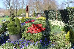 Parco di Keukenhof nei Paesi Bassi Fotografia Stock Libera da Diritti