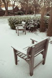 Parco di Londra nella neve Fotografie Stock Libere da Diritti