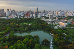 Parco di Lumpini a Bangkok Fotografia Stock