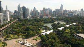 Parco di Lumpini a Bangkok Tailandia da topview Immagine Stock