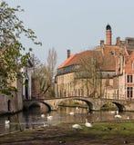 Parco di Minnewater a Bruges Fotografia Stock