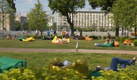 Parco di Mosca, Gorkij fotografie stock libere da diritti