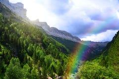 Parco di Ordesa y Monte Perdido National, Huesca, l'Aragona, Spagna fotografia stock