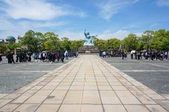 Parco di pace di Nagasaki a Nagasaki, statua di pace Fotografia Stock Libera da Diritti