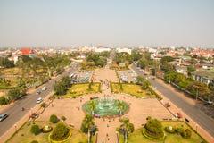 Parco di Patuxai immagini stock libere da diritti