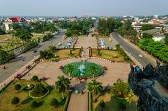 Parco di Patuxay Victory Gate, Vientiane, Laos Fotografia Stock