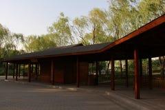 Parco di Pechino Haidian al crepuscolo Fotografia Stock Libera da Diritti