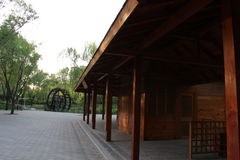 Parco di Pechino Haidian al crepuscolo Immagini Stock Libere da Diritti