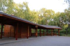 Parco di Pechino Haidian al crepuscolo Immagine Stock Libera da Diritti