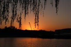 Parco di Pechino Haidian al crepuscolo Immagini Stock