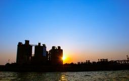 Parco di pesca di Honmoku al tramonto Fotografia Stock Libera da Diritti