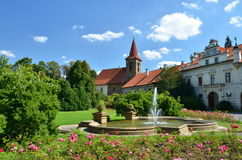 Parco di Pruhonice a Praga - vista frontale Fotografia Stock