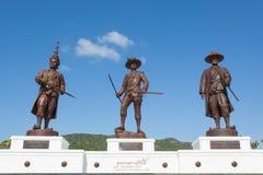 Parco di Ratchapak e le statue di sette ex re tailandesi immagini stock libere da diritti