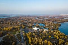 Parco di ricreazione nel distretto di Obolon in Kiyv fotografia stock libera da diritti