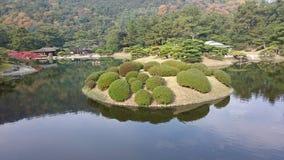 Parco 2 di Ritsurin del giapponese Immagine Stock Libera da Diritti