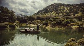 Parco di Ritsurin del giapponese Fotografie Stock Libere da Diritti
