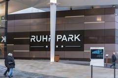 Parco di Ruhr del centro commerciale dell'entrata a Bochum Fotografia Stock Libera da Diritti