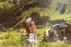 Parco di scoperta di Alpinolino, Tirolo, Austria immagini stock libere da diritti