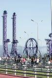 Parco di Soci Ponte pedonale Fotografia Stock Libera da Diritti