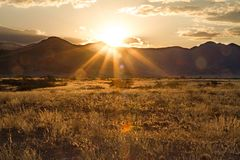 Parco di Sossusvlei, Namibia fotografia stock