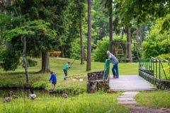 Parco di Sparites in Gulbene, Lettonia immagini stock libere da diritti