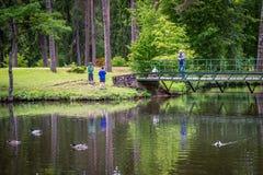 Parco di Sparites in Gulbene, Lettonia Fotografia Stock