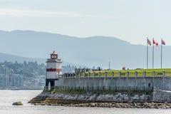 Parco di Stanley del faro Vancouver Canada Fotografia Stock