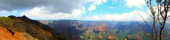 Parco di stato del canyon di Waimea panoramico Fotografie Stock