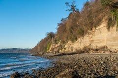 Parco di stato dell'acqua salata in Washington State Fotografia Stock Libera da Diritti