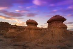 Parco di stato della valle del folletto nell'Utah Fotografie Stock