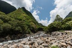 Parco di stato della valle di Iao, Maui ad ovest Fotografie Stock