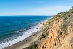 Parco di stato di EL Matador in spiaggia di Malibu Immagine Stock