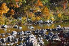 Parco di stato di reclusione di Johnson in autunno fotografie stock
