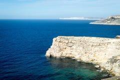Parco di storia & della natura, linea costiera rocciosa Fotografia Stock