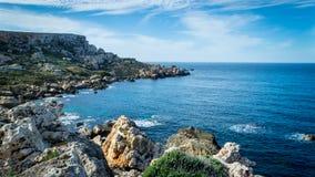 Parco di storia & della natura, linea costiera rocciosa Fotografie Stock