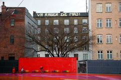 Parco di Superkilen, Copenhaghen, Danimarca Immagine Stock Libera da Diritti