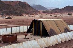 Parco di Timna - modello del tabernacolo Fotografia Stock Libera da Diritti