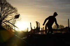 Parco di tramonto Fotografie Stock