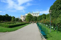 Parco di Volksgarten a Vienna Fotografia Stock Libera da Diritti