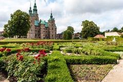 Parco e castello di Rosenborg a Copenhaghen, Danimarca immagine stock