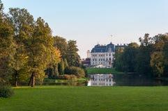 Parco e castello in Pszczyna Fotografia Stock