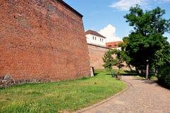 Parco e castello Spilberk, repubblica Ceca, Europa Immagini Stock