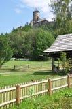 Parco e castello Stara Lubovna, Slovacchia, Europa Fotografia Stock Libera da Diritti