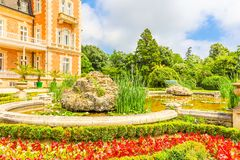 Parco e palazzo Evxinograd o Evksinograd Varna, Bulgaria immagine stock