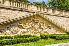 Parco e palazzo Evxinograd o Evksinograd Varna, Bulgaria immagine stock libera da diritti